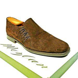 """MEZLAN """"Pelle Line"""" Men 10.5 Suede  Leather Loafer"""